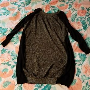Black & Gold Sweater Dress